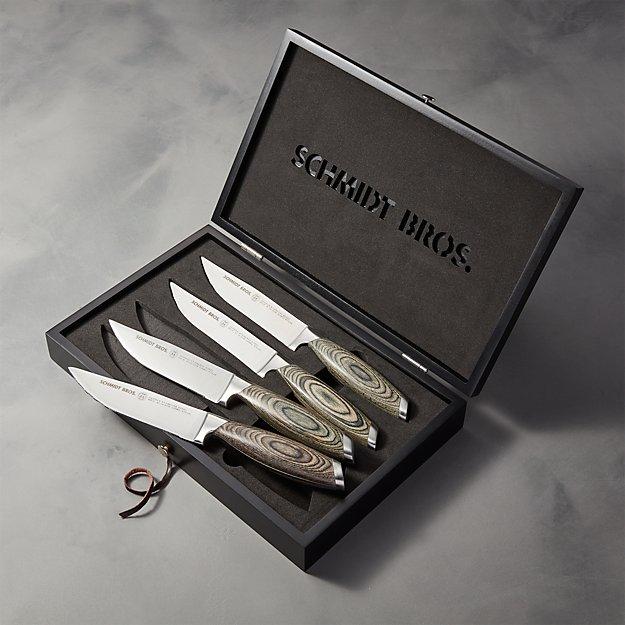 Schmidt Brothers ® Bonded Ash Steak Knives Set of Four - Image 1 of 3