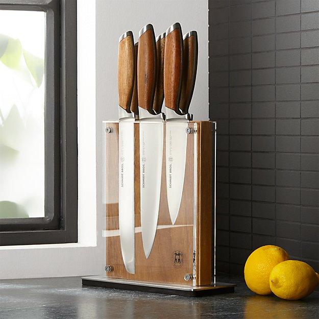 Schmidt Brothers ® Bonded Teak 7-Piece Knife Set - Image 1 of 4