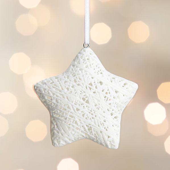 Bone China Fiber Star Ornament