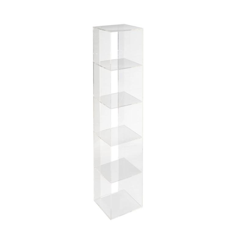 acrylic shelf bookcase reviews crate and barrel - Acrylic Bookshelves