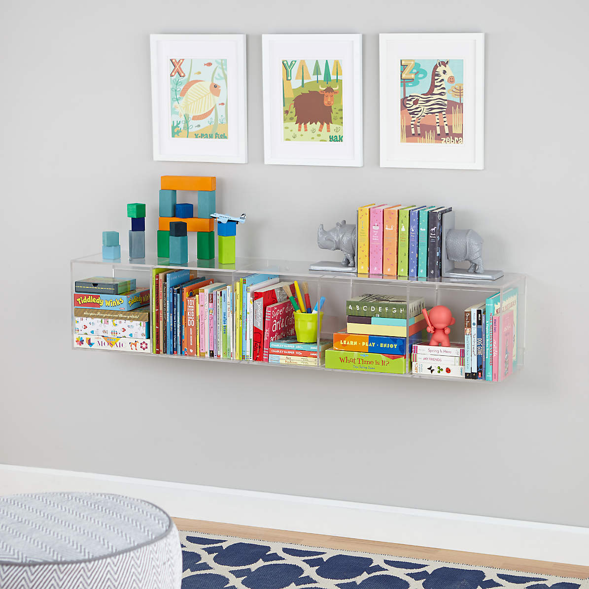 Acrylic Shelf Bookcase Reviews Crate And Barrel
