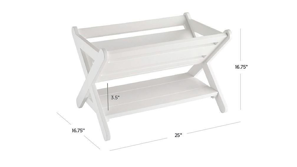 Good Read Trough Book Caddy (White) | Crate and Barrel