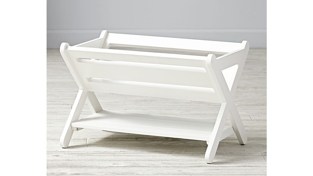 Good Read White Book Caddy + Reviews | Crate and Barrel