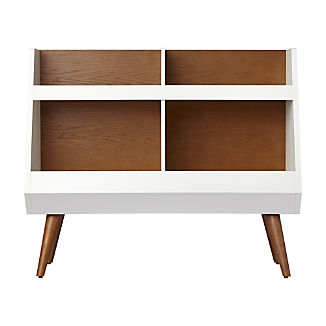 Walnut and White Mid-Century Bookcase