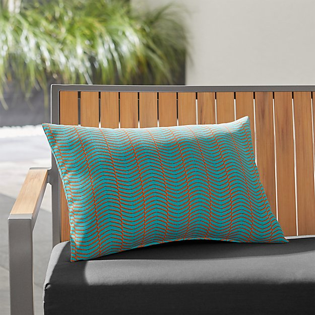 Boomerang Outdoor Lumbar Pillow