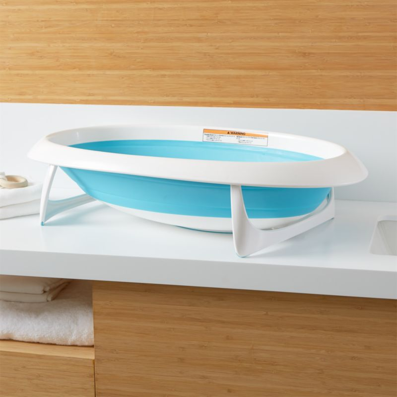 Boon Blue Naked Collapsible Baby Bathtub Reviews Crate