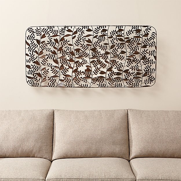 Botanical Basket Metal Wall Art
