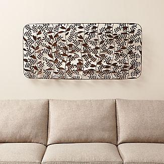 Botanical Basket Metal Wall Art