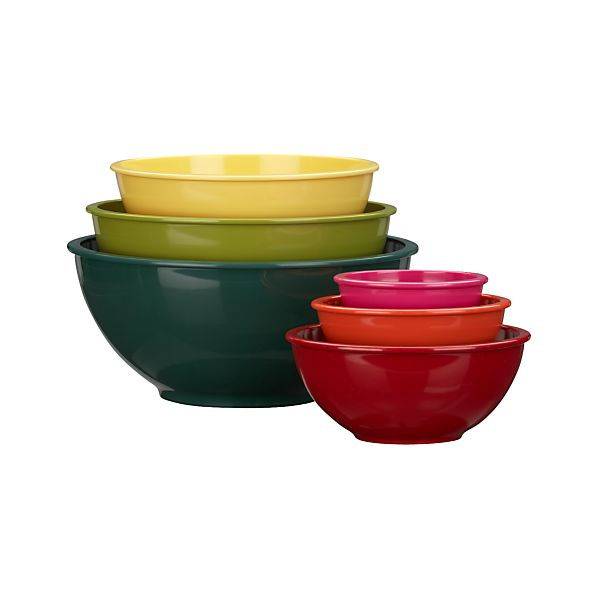 "6-Piece Melamine 4.78""-11.8"" Nesting Bowl Set"