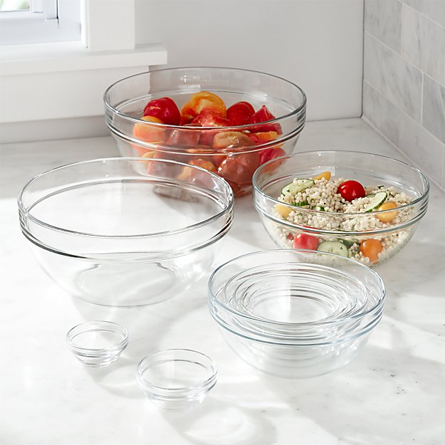 "10-Piece 2.25""-10.25"" Glass Nesting Bowl Set"