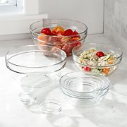 "Glass Nesting Bowl 10-Piece Set,  2.25""-10.25"""