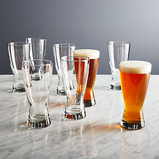 Boxed Beer Glasses, Set of 8