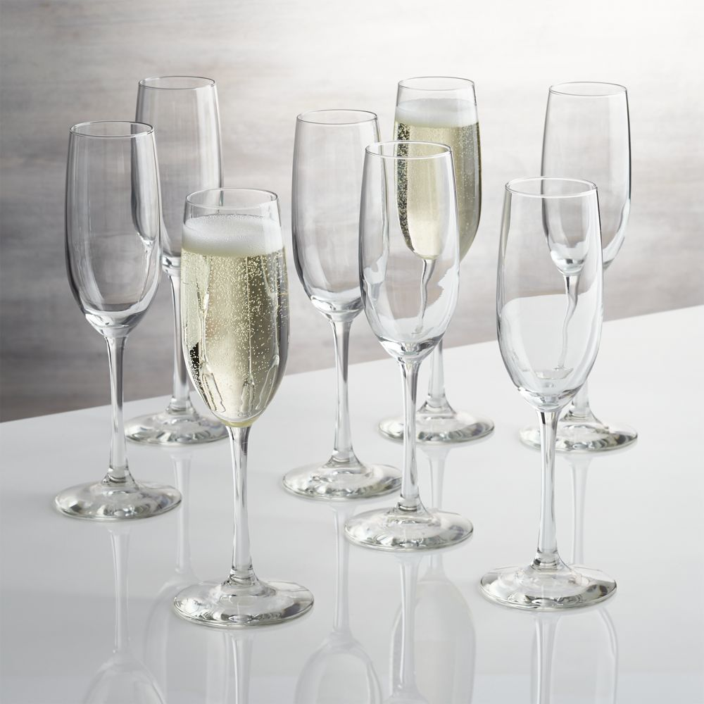 Boxed Champagne Flutes, Set of 8 - Crate and Barrel