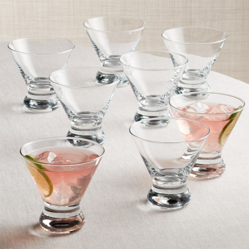Boxed Cocktail Glasses Set Of 8 Reviews Crate And Barrel