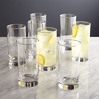 Boxed Highball Glasses Set of 8