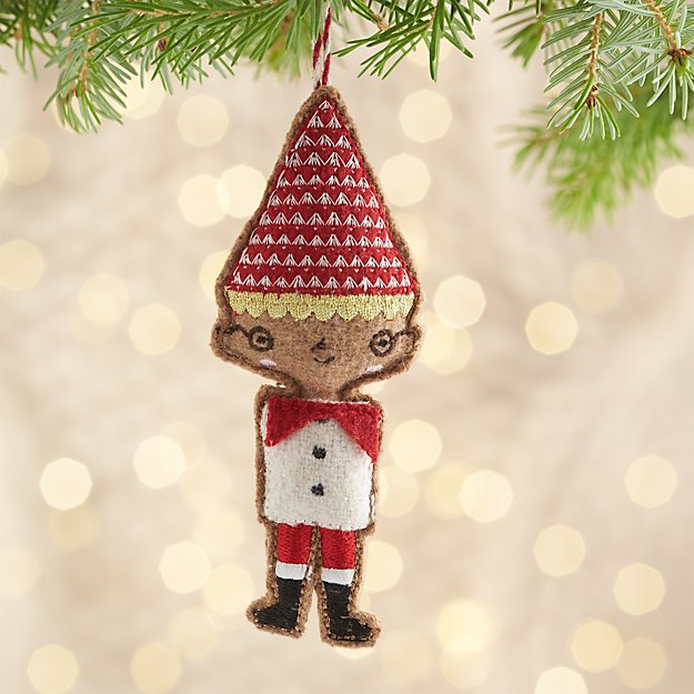 Boy Elf Ornament