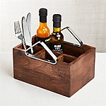 Boyd Acacia Wood Flatware Caddy