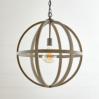 Braden Grey Wood Pendant Light
