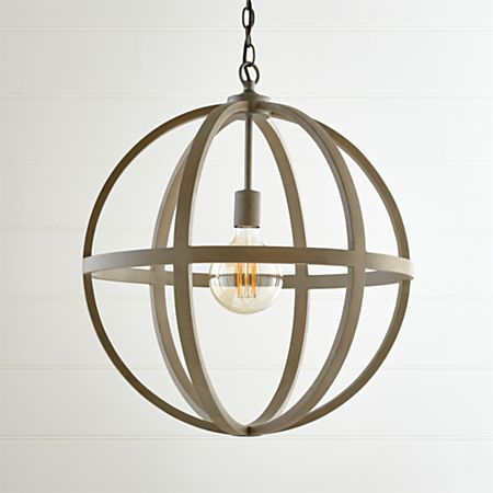 Braden Grey Wood Pendant Light