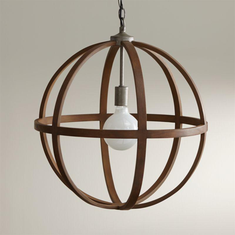 Braden Wood Globe Pendant Reviews Crate and Barrel