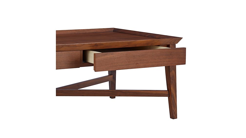 Bradley Walnut Coffee Table with Drawers