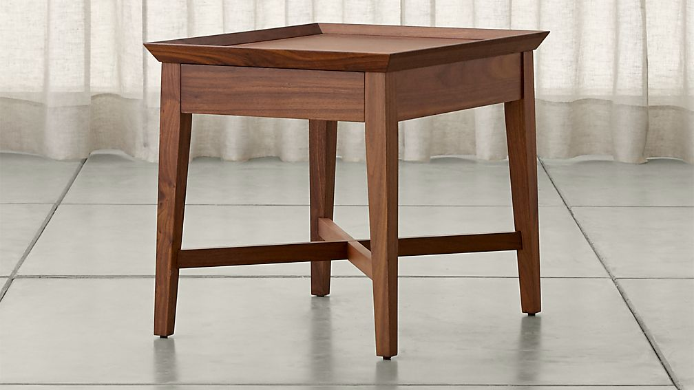 Bradley Walnut Side Table With Drawer ...