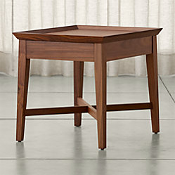 Bradley Walnut Console Table With Drawers Crate And Barrel