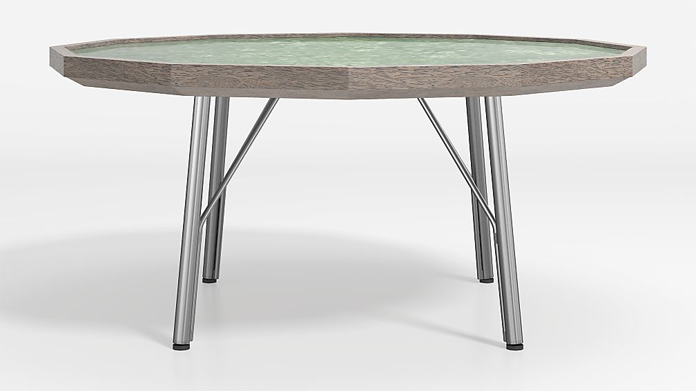 Bradshaw Green Marble Coffee Table - Image 1 of 5