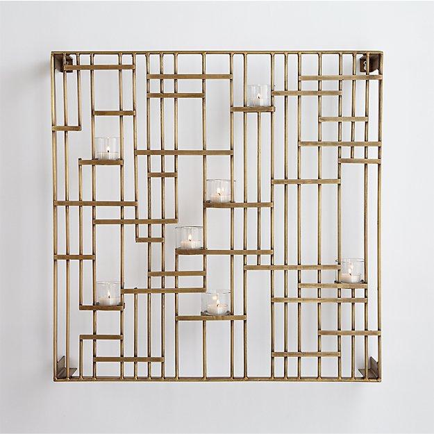 Brass Grid Candleholder