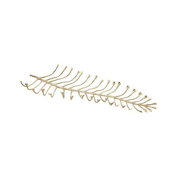 Brass Leaf Centerpiece