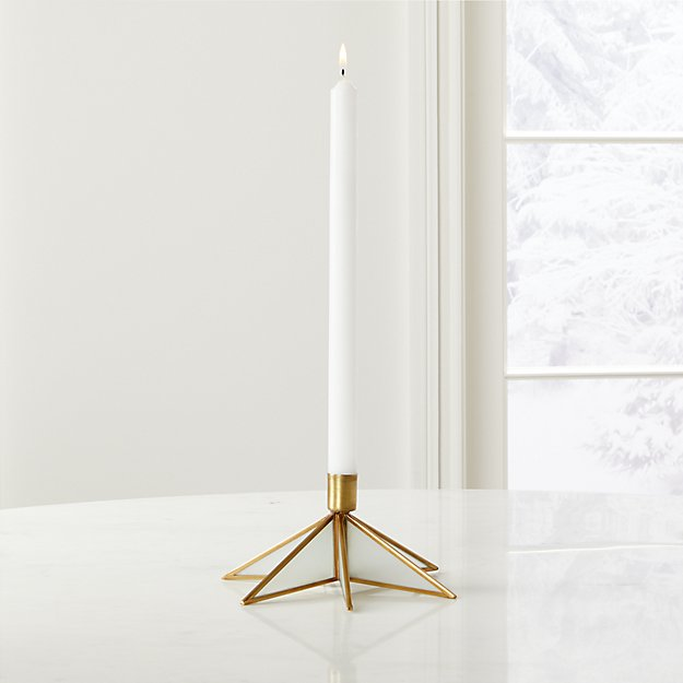 Brass Star Taper Candle Holder - Image 1 of 6
