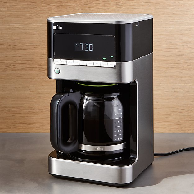 Braun Coffee Maker ~ Braun cup stainless steel coffee maker crate and barrel
