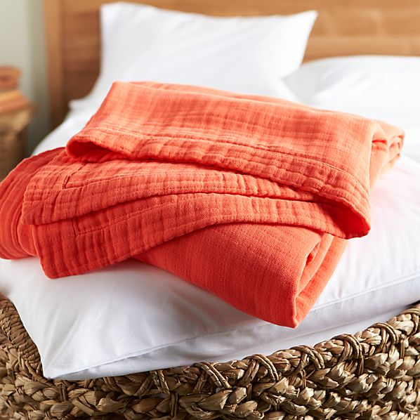 Breezy Coral Twin Blanket