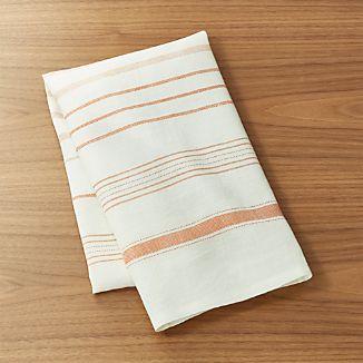 Brennan Orange Stripe Dish Towel
