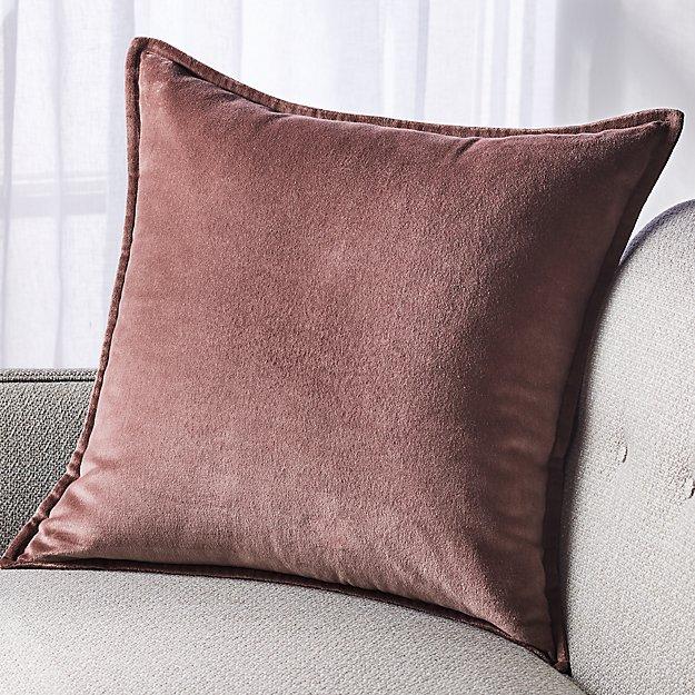 """Brenner Velvet Dusty Lavender Pillow 20"""" - Image 1 of 4"""