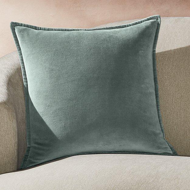 """Brenner Lead Velvet Pillow 20"""" - Image 1 of 6"""