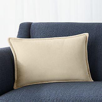 """Brenner Sesame 18""""x12"""" Velvet Pillow with Down-Alternative Insert"""