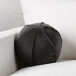 Brenner Grey 12  Sphere Velvet Pillow