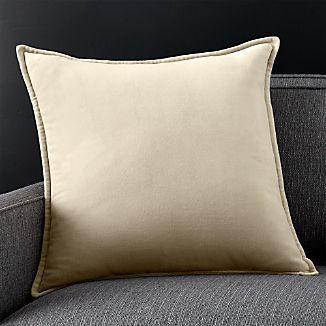 """Brenner Sesame 20"""" Velvet Pillow with Feather-Down Insert"""
