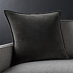 Brenner Grey 20  Velvet Pillow with Feather-Down Insert