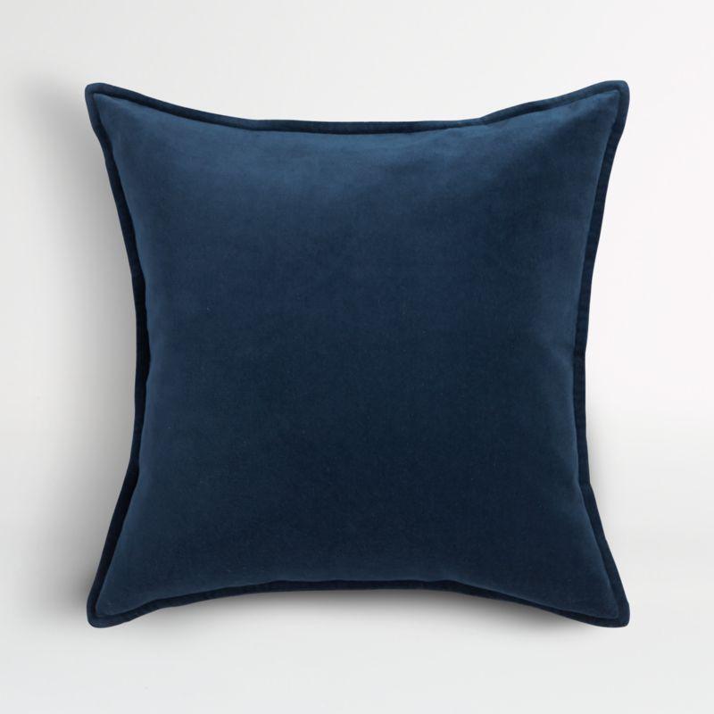Brenner Indigo Blue Velvet Pillow Cover