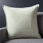 Brenner Sage Green 20  Velvet Pillow with Feather-Down Insert