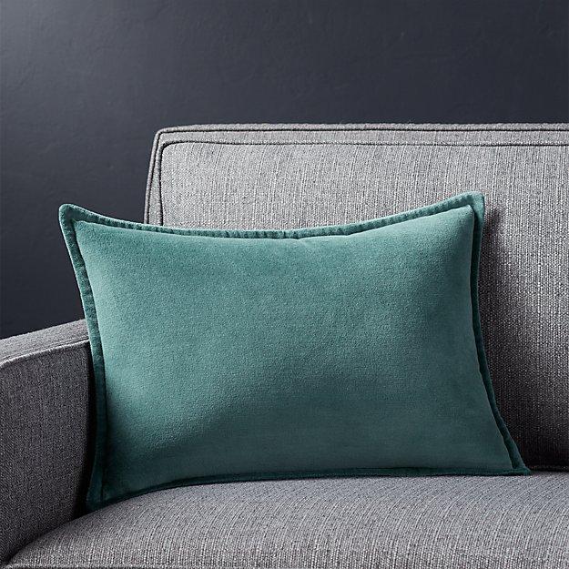 """Brenner Slate Grey 18""""x12"""" Velvet Pillow"""