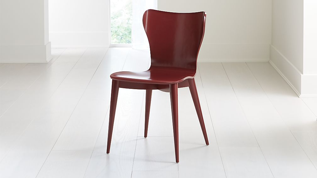 Brera Red Bentwood Dining Chair - Image 1 of 7