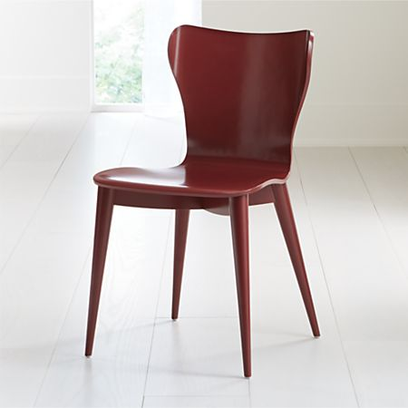 Remarkable Brera Red Bentwood Dining Chair Reviews Crate And Barrel Evergreenethics Interior Chair Design Evergreenethicsorg