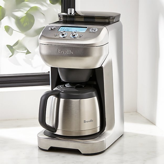 9e555686c9 Breville 12-Cup Grind Control Coffee Maker + Reviews | Crate and Barrel