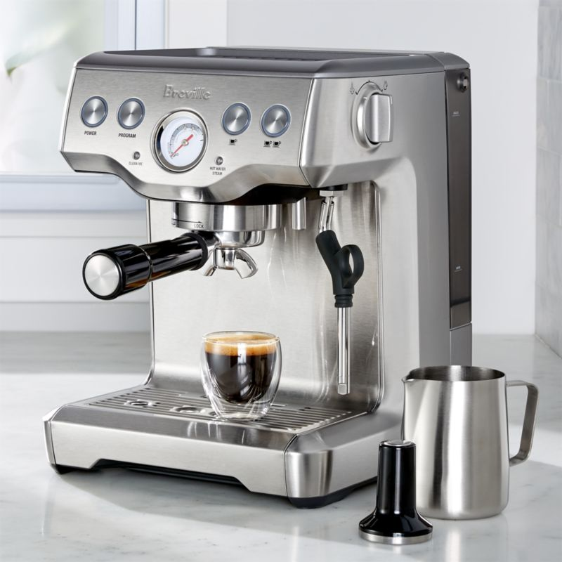 Breville Coffee Maker How To Use : Breville Infuser Espresso Machine Crate and Barrel