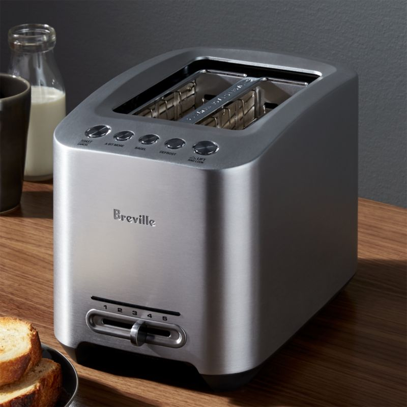Breville SmartToaster 2-Slice Toaster + Reviews | Crate and Barrel