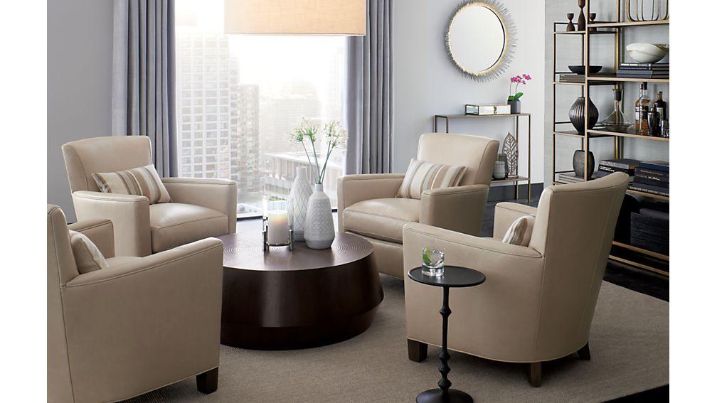 Briarwood Leather Club Chair