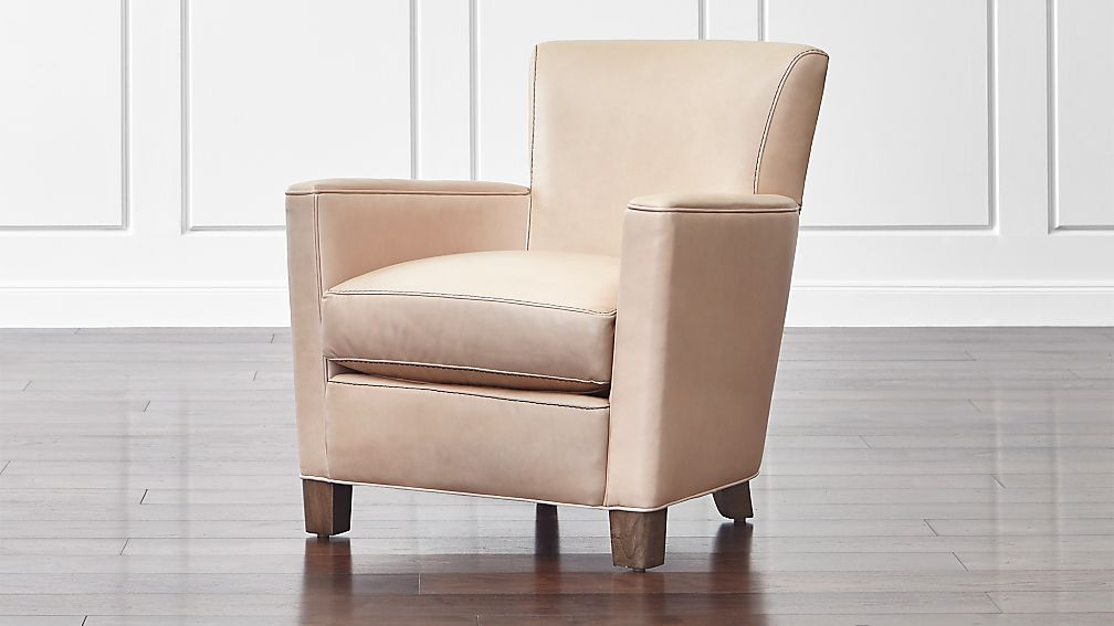 Briarwood Modern Leather Club Chair Crate and Barrel